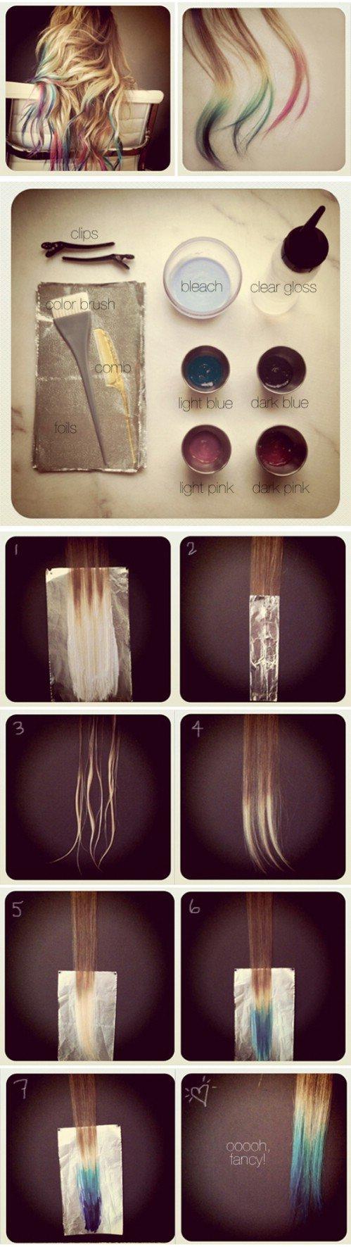 How to do DIY tie dye hair 2