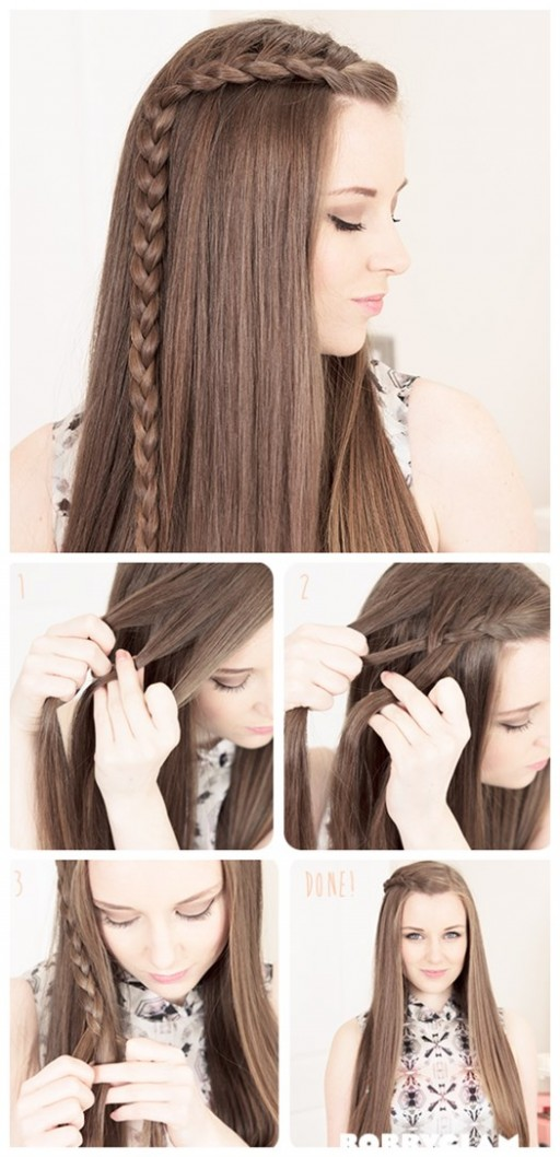 How to make DIY Lauren Conrad side braids hair tutorial 2