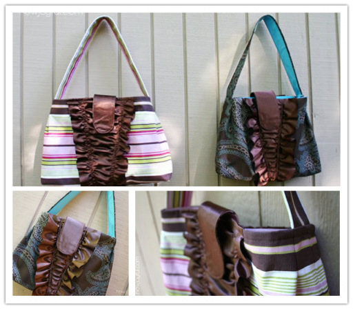 How to make DIY Ruffles handbag