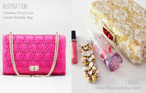 How to make DIY Valentino inspired lace clutch 2