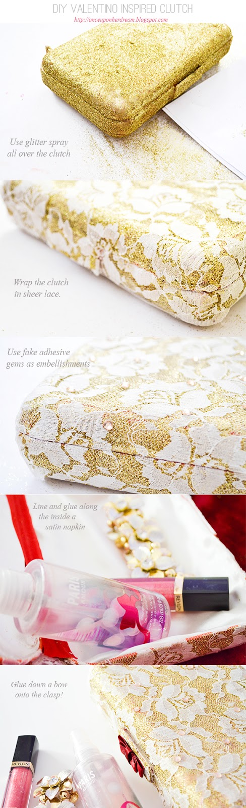 How to make DIY Valentino inspired lace clutch 3
