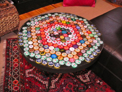 How to make DIY bottle cap table 2