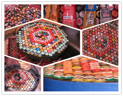 How to make DIY bottle cap table