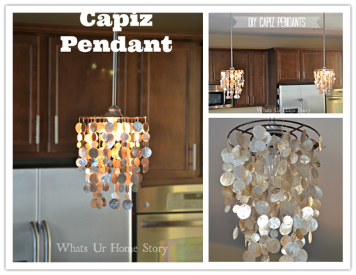 How to make DIY capiz pendant chandelier
