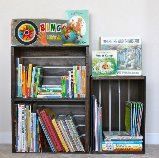 How to make DIY crate bookshelf