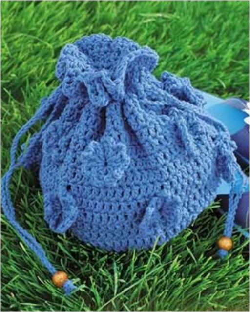 How to make DIY crochet drawstring flower bag pattern