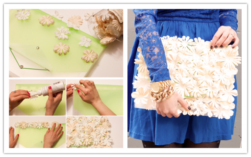 How to make DIY flower clutch
