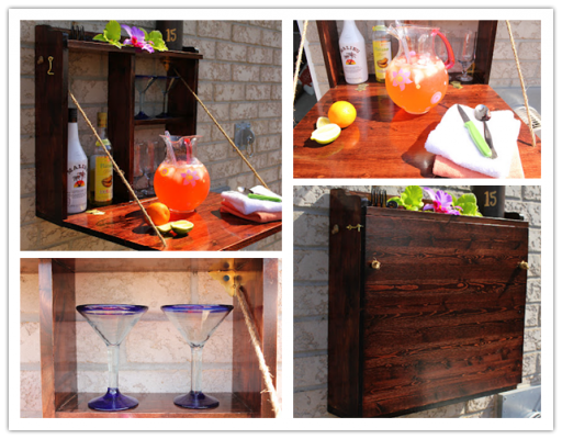 How to make DIY fold down outdoor bar