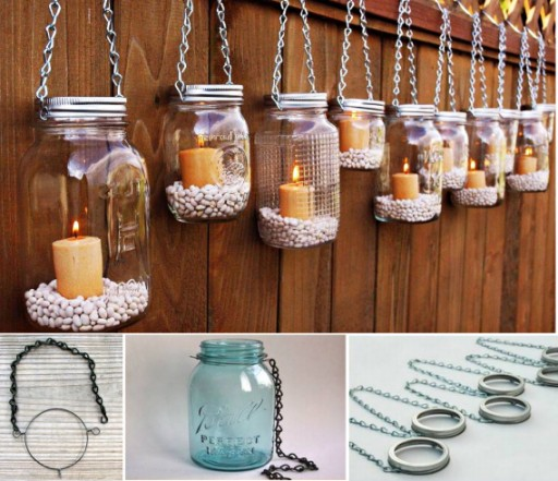 How to make DIY hanging mason jar lanterns