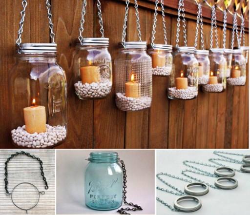 How to make DIY hanging mason jar lanterns