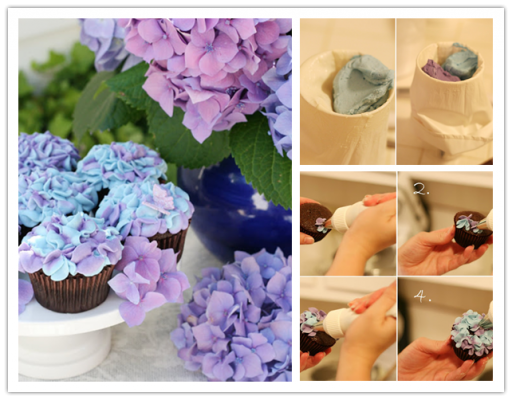 How to make DIY hydrangea floral cupcakes