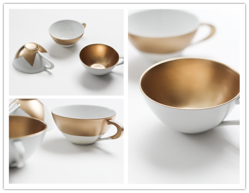 How to make DIY metallic tea cups