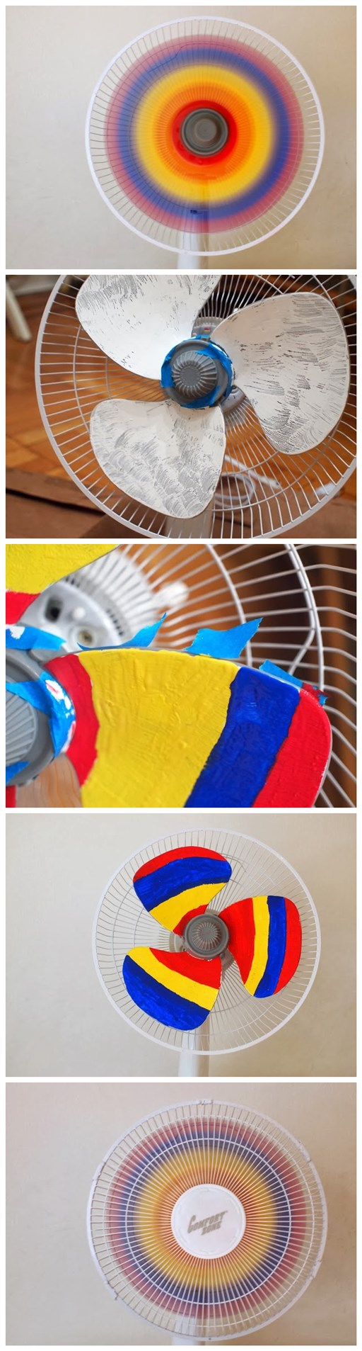 How to make DIY rainbow fan 2