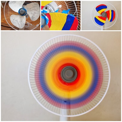 How to make DIY rainbow fan