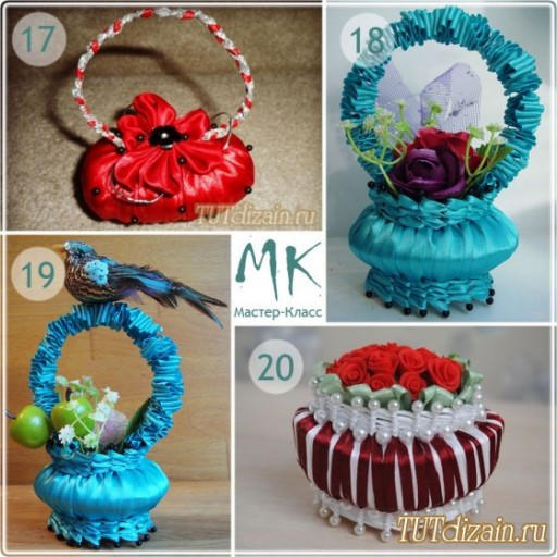 How to make DIY ribbon wrapped soap flower basket 6