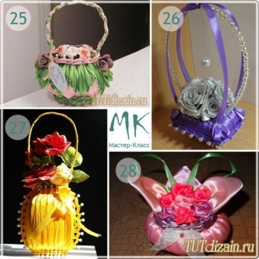 How to make DIY ribbon wrapped soap flower basket 8