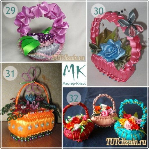 How to make DIY ribbon wrapped soap flower basket 9