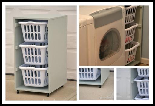 how to make diy rolling laundry basket dresser