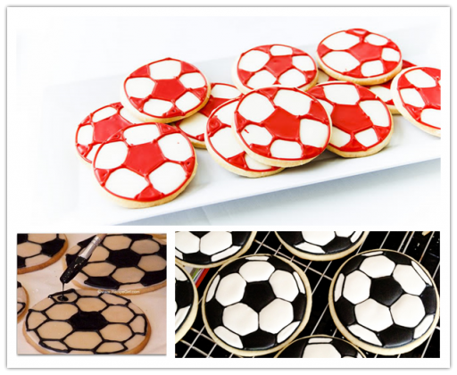 How to make DIY soccer cookies