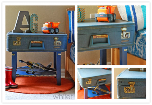 How to make DIY suitcase bedside table