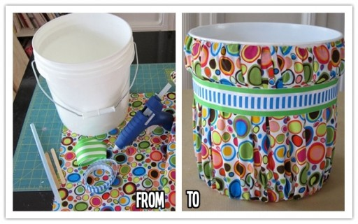 How to make DIY trash can makeover