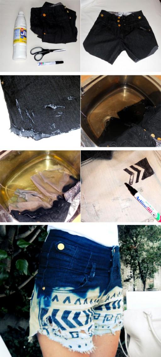 How to make DIY tribal print shorts