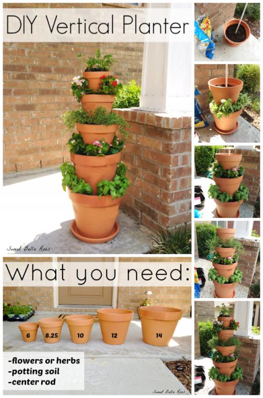 How to make DIY vertical planter