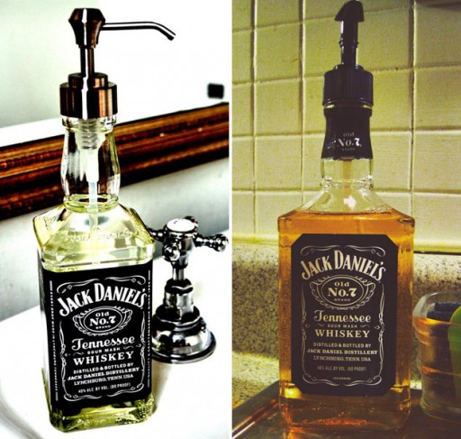 How to make DIY whiskey bottle soap dispenser