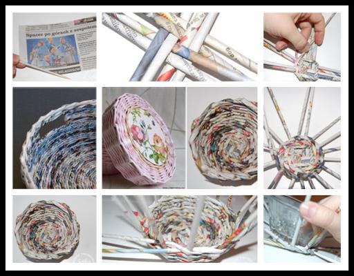 How to make DIY wicker newspaper basket