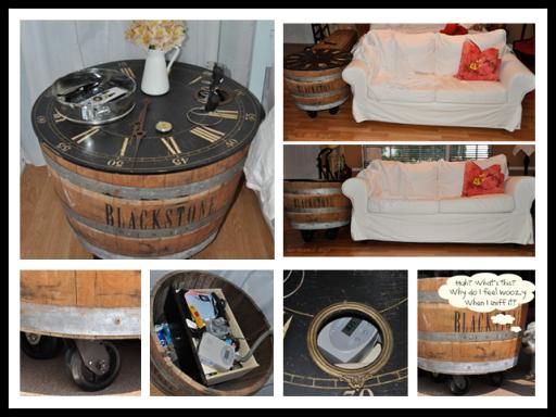 How to make DIY wine barrel nightstand