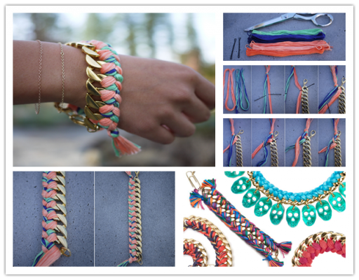 How to make DIY woven chain bracelets