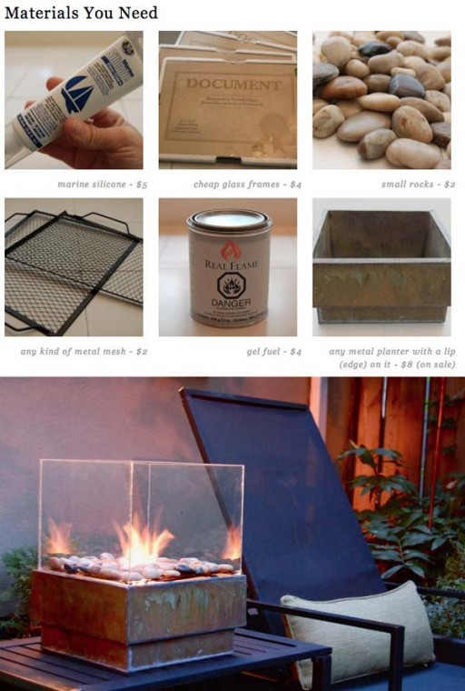How to make a simple DIY firepit