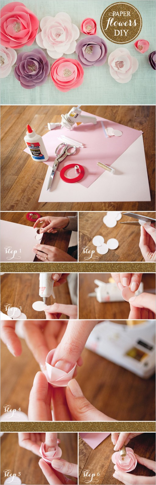 How to make beautiful DIY paper flowers 2