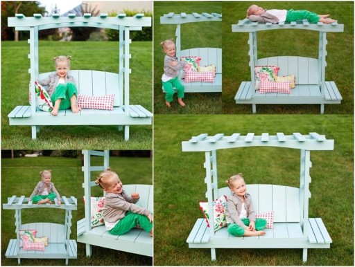 How to make lovely DIY bench arbor for children