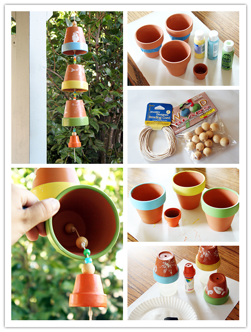 How to make wind chimes with planting pots