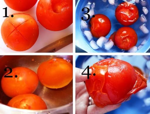 How to peel tomatoes easily