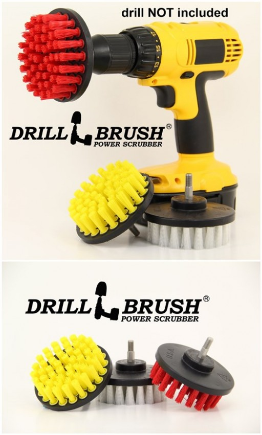 How to scrub bathroom like a boss with power drill brush 2
