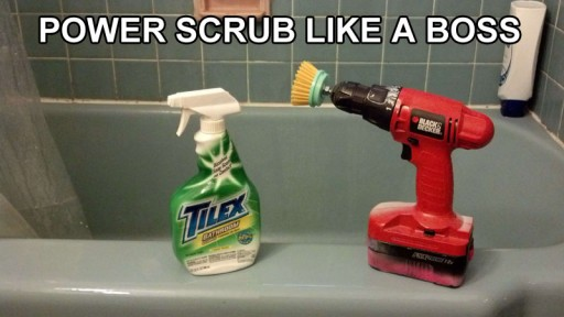 How to scrub bathroom like a boss with power drill brush