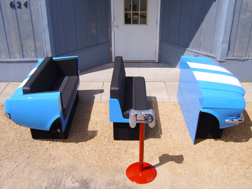 Repurpose classic cars into cool furniture 1