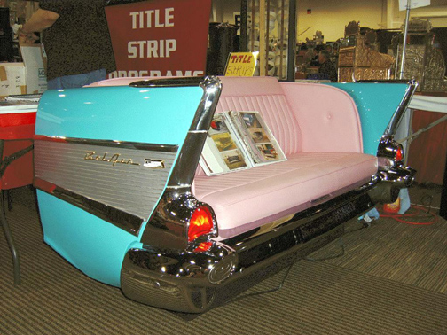 Repurpose classic cars into cool furniture 2