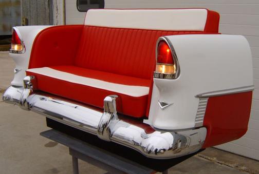 Repurpose classic cars into cool furniture 5