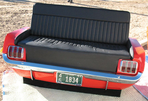 Repurpose classic cars into cool furniture 8