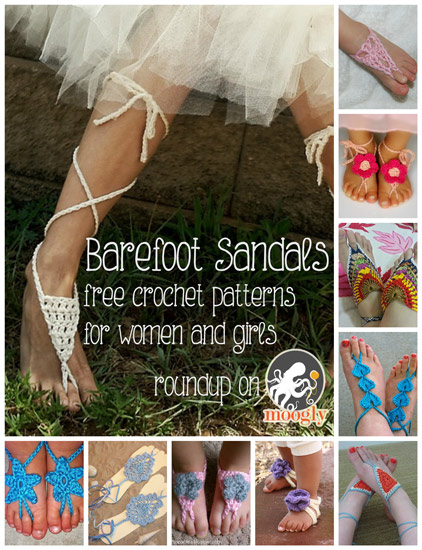 10 Crochet Barefoot Sandals For Summer