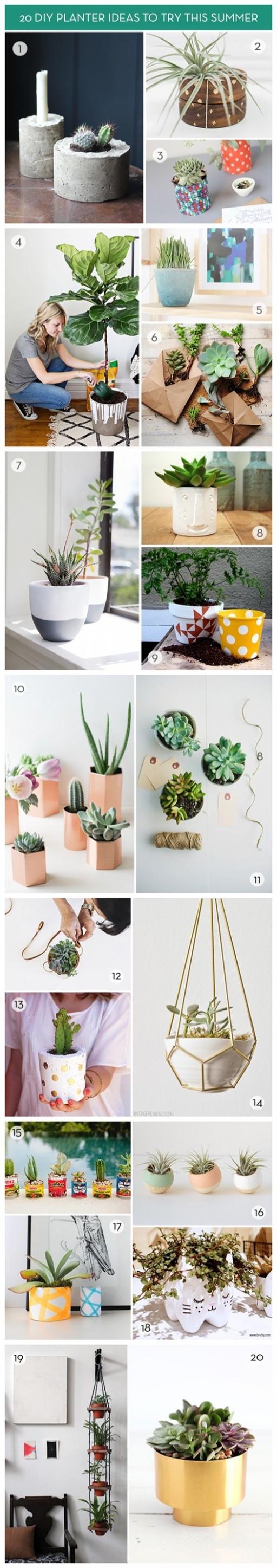 20 Summer DIY Planter Ideas 2