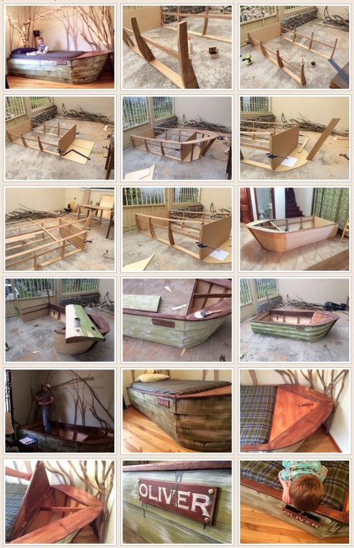 DIY Boat Bed With Secret Compartments 2