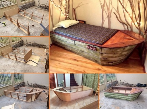 DIY Boat Bed With Secret Compartments