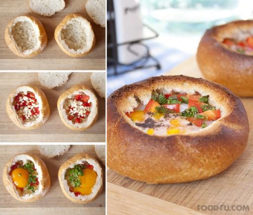DIY Breakfast Bread Bowl Recipe & Instructions