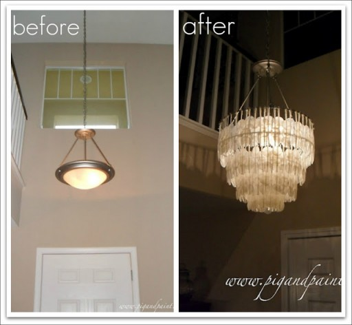 DIY Capiz Shell Chandelier Tutorial