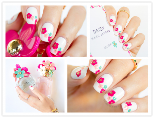 DIY Daisy Floral Nail Art Tutorial 2