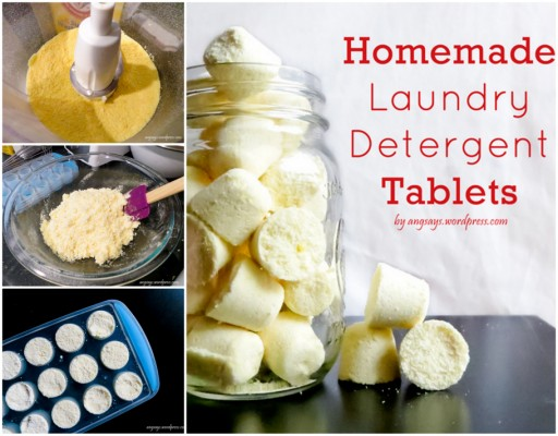 DIY Homemade Laundry Detergent Soap Tablets Tutorial